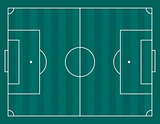 Vector illustration of a football field
