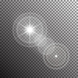 Vector transparent sunlight special lens flare