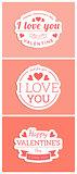 St. Valentine card template.