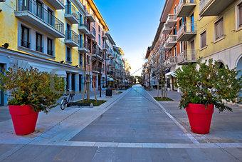 Town of grado tourist promenade street
