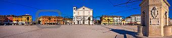 Central square in Palmanova panoramic view,