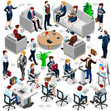 Isometric People Business Crowd Icon 3D Set Vector Illustration