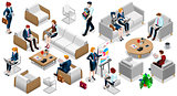 Isometric People Business Team Icon 3D Set Vector Illustration