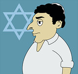 A vector illustration of Jewish man