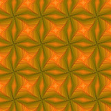 Seamless pattern with rotating yellow shapes