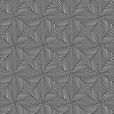 Seamless pattern with rotating monochrome shapes
