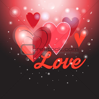 Greeting background with hearts