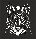Tribal wolf tatoo