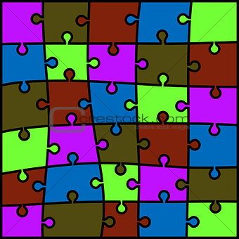 abstract colored puzzle background