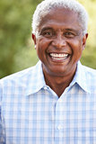 Portrait of smiling senior African American man, vertical