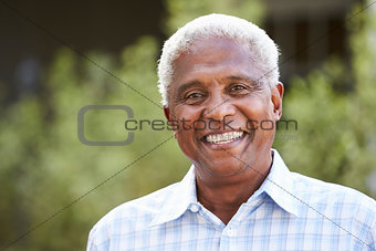 Portrait of senior African American man, close up
