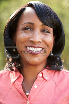 Portrait of senior African American woman, vertical