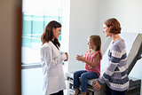 Pediatrician Meeting With Mother And Child In Exam Room