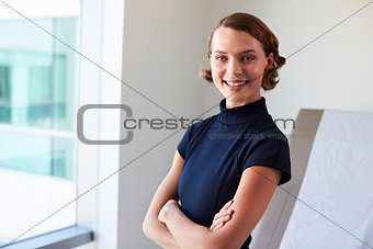 Portrait Of Female Doctor In Exam Room