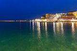 Night Venetian quay, Chania, Crete
