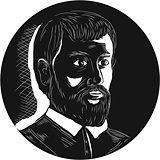 Hernando de Soto Explorer Circle Woodcut