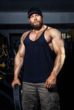bearded muscular man