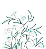 Vector decoration of flowers