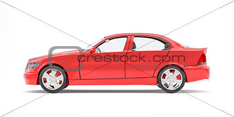 Brandless Generic Red Car