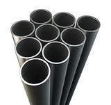 Steel metal tubes. Close-up
