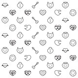 Heart and Love Pattern