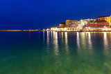 Panorama old harbour, Chania, Crete, Greece