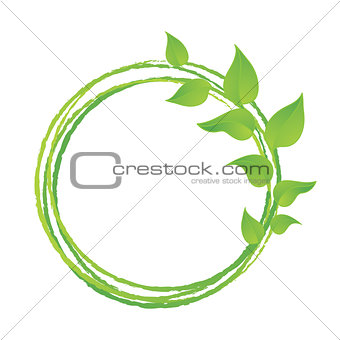 Green leaves or leaf graphic icon design