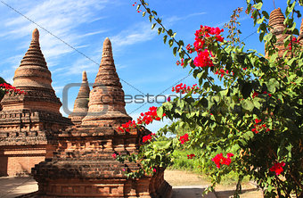 Ancient stupas in the archaeological zone, Bagan, Myanmar
