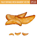 Potatoes rustic on white background. Vector illustration