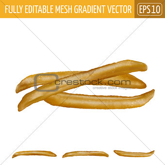 French fries on white background. Vector illustration