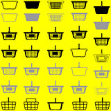 Basket different colour - set icons.