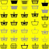 Basket different colour - set icons.