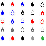 Drop different colour - set icons.