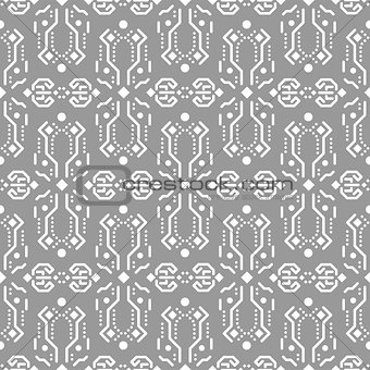 Abstract tribe ornament seamless vector pattern.