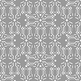 Gray and white ornament seamless vector pattern.