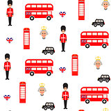 England symbols vector seamless pattern.