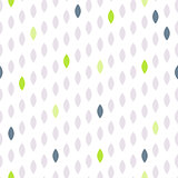 Simple drop polka dot shape seamless row pattern.