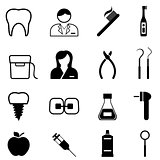 Dental health and dentist icons