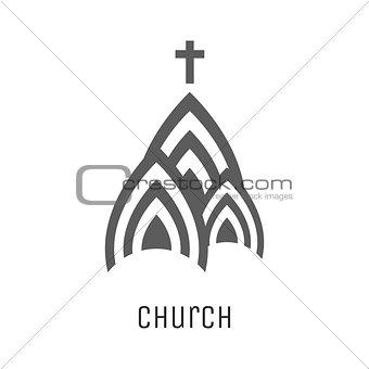 Church logo vector icon.