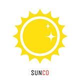 Yellow sun vector icon logo design concept.