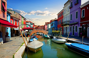 Bright colorful houses