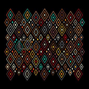 Abstract geometric pattern, rhombus design