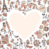 I love France. Sketch for your design