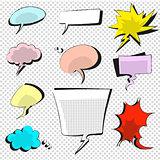 comic icons speech bubble vector illustration