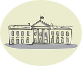 White House Building Oval Drawing