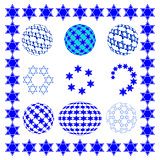 Set round sphere with stars of David.