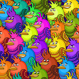Colorful Funny Birds, Seamless