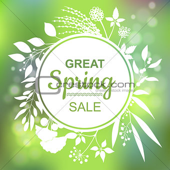 Great spring Sale Banner