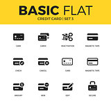 Basic set of credit card icons