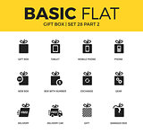 Basic set of Gift box icons